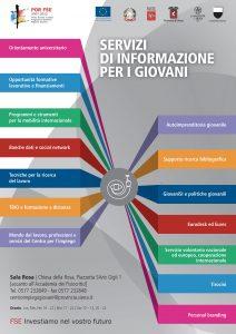 Poster Servi di Informazione per i giovani, Centro per l'impiego di Siena